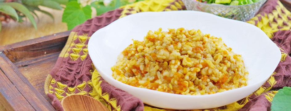 カレーの玄米リゾット