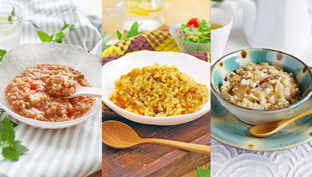 保存ができて、とってもヘルシー!!美味しい玄米100%の「玄米リゾット」できました♪